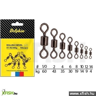 Rolling Swivel A-01/10pcs BN/10-forgókapocs