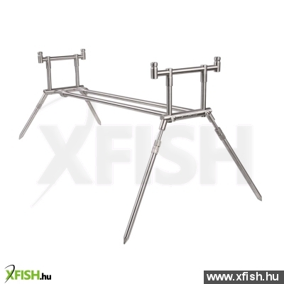 Mad - Compact Stainless Steel Rod Pod Uk Style - 2 Rods - Mad - Compact Stainless Steel Rod Pod Uk Style - 2 Rods Bottartó Állvány