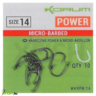 Korum XPERT POWER MICRO BARBED HOOKS - SIZE 8