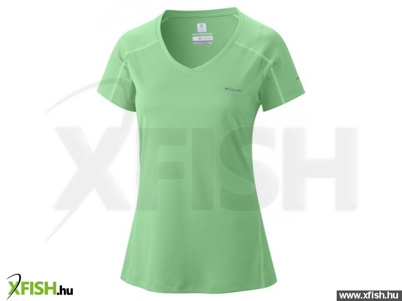 ff8e4d6b3c Columbia Zero Rules Short Sleeve Shirt S 375 - Chameleon Green Női - Felsők  - sport póló, aláöltöző