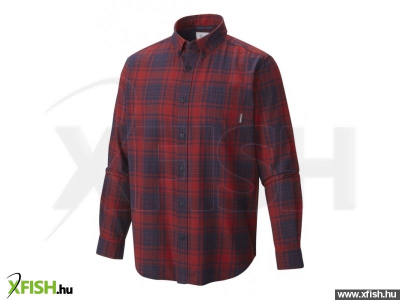Columbia 1552051 Rapid Rivers II LS Shirt XL 612 - Laser Red Férfi - Felsők - ing Outdoor ruházat > ing, blúz