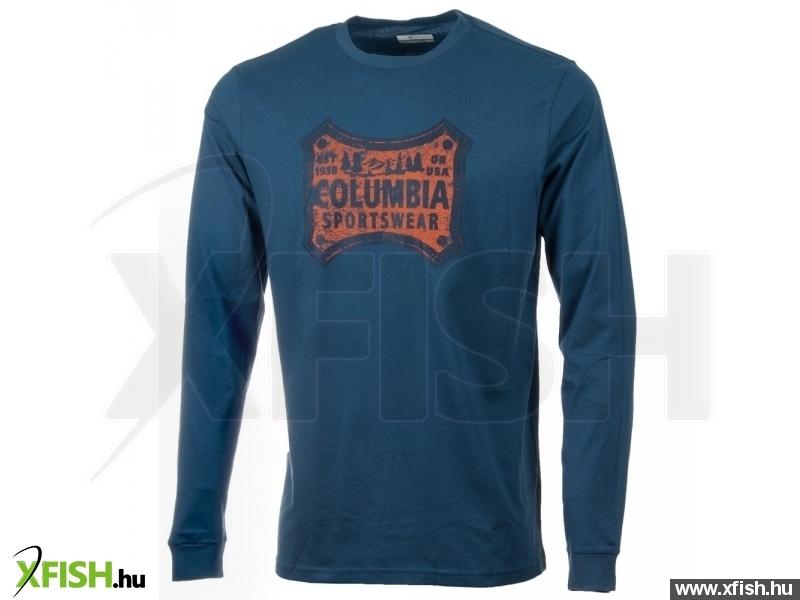4958a23fc0 Columbia CSC Classic Patch Long Sleeve XXL 452 - Night Tide Férfi - Felsők  - hosszú ujjú póló