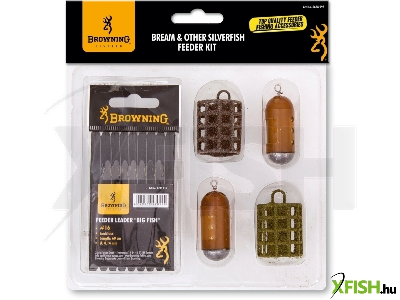 Browning Bream & Other Silverfish - Feeder Készlet (barbless)