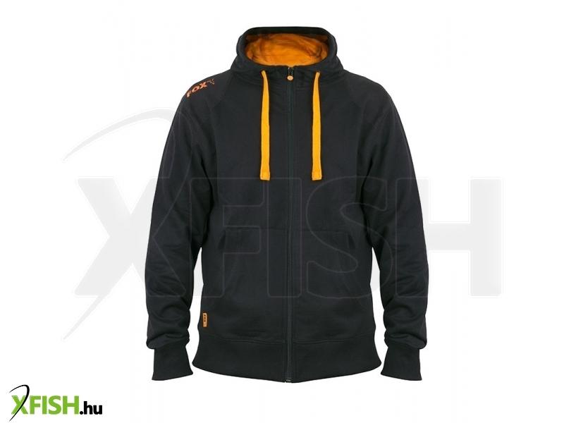 FOX kapucnis pulcsi L - Black   Orange Lightweight Zipped Hoody ffd0223036