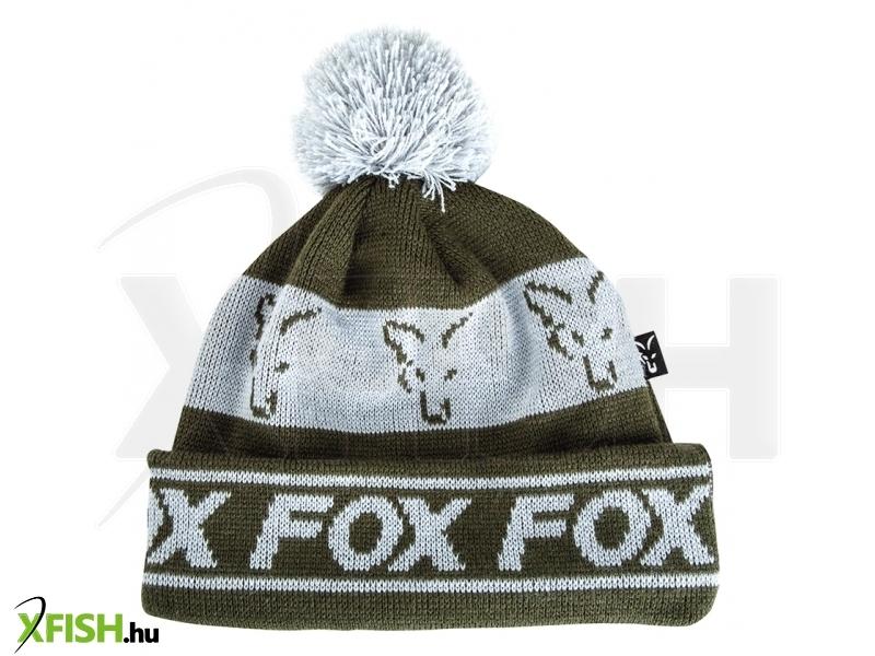 8e15767192 Fox téli sapka Green/Silver - Lined Bobble Hat zöld/ezüst