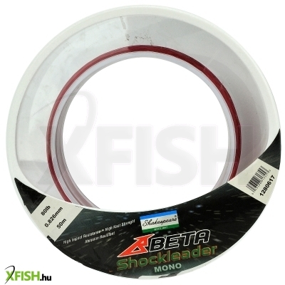 Shakespeare Beta Shock Leader Spool Előke Zsinór 45m 60lb 27.2kg 0.26mm Sárga
