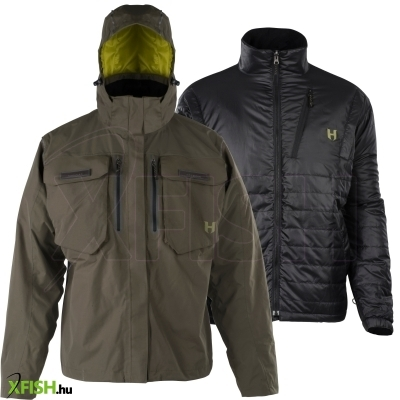 Hodgman Aesis™ 3in1 Jacket Mens L Olive/Black Polyester Jackets 3 in 1 Shell Insulated