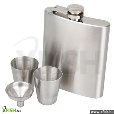 Eiger Silver Hip Flask Gift Set - kulacs