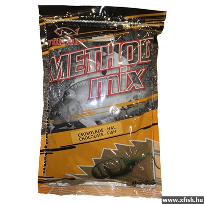 TOP MIX Csokoládé-Hal method mix feeder etetőanyag 850 gr