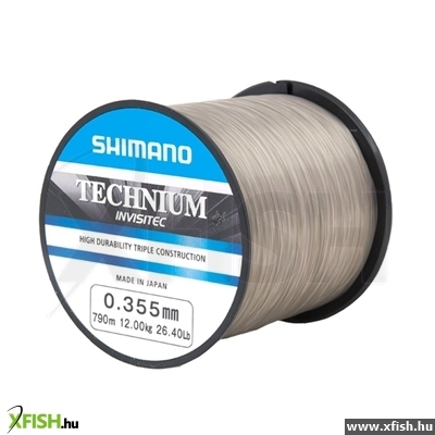 Shimano Technium Invisitec Zsinór (790m/0.355mm)