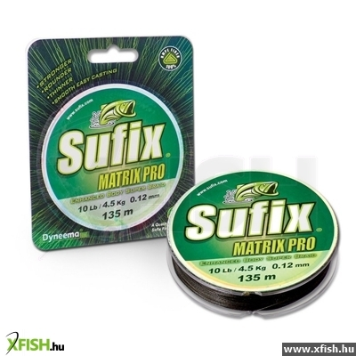 Sufix Matrix Pro Braid 0.23Mm/15,5Kg Mid.Green 135M Sufix Fonott Zsinór
