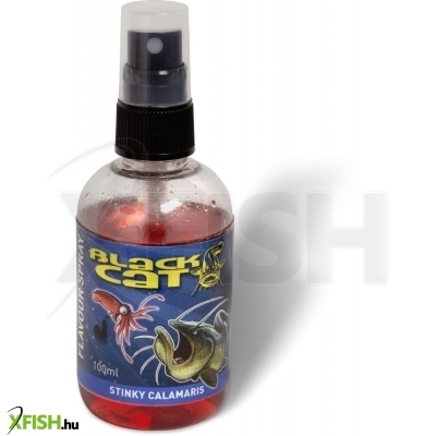 Black Cat Flavour Spray piros Stinky Calamaris 100ml harcsázó aroma tintahal