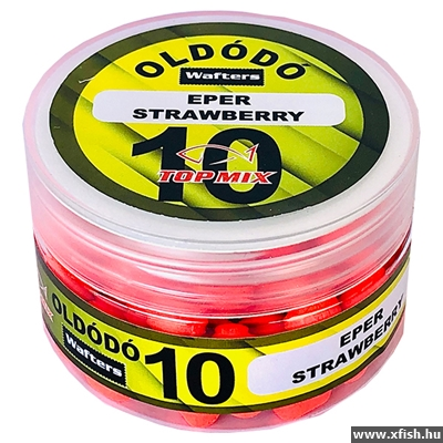 Top Mix Oldódó Wafters Fluo Piros - Eper Method Feeder Csali