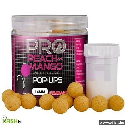 STARBAITS PROBIO PEACH & MANGO POP UPS lebegő bojli 60G 20 mm