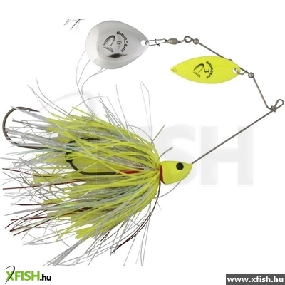 Savage Gear Da'Bush Spinnerbait Villantó 42G #4 Yellow Silver Holo Flame