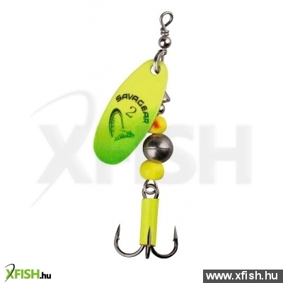 Savage Gear Caviar Spinner Körforgó Villantó #2 6G 07-Fluo Yellow / Chartreuse