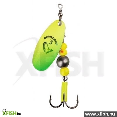Savage Gear Caviar Spinner Körforgó Villantó #3 9.5G 07-Fluo Yellow / Chartreuse