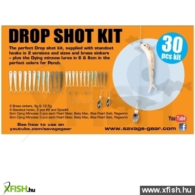 Savage Gear Dying Minnow Drop Shot Pro Pack Kit 30Pcs Nl Műcsalis Szett