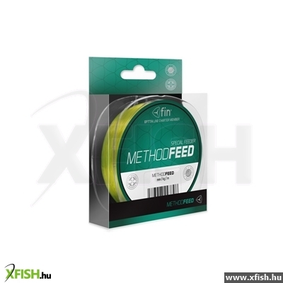 Delphin FIN Method FEED monofil method feeder zsinór (0.20/300m) - Fluo Sárga