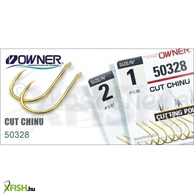 Owner Pontyozó Horog Cut Chinu Gold(12Db/Csomag) 50328 1