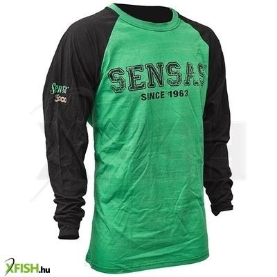 Sensas T-Shirt Manches Longues Hosszú Ujjú Póló Vert  Noir Xxl fe5f806ed3