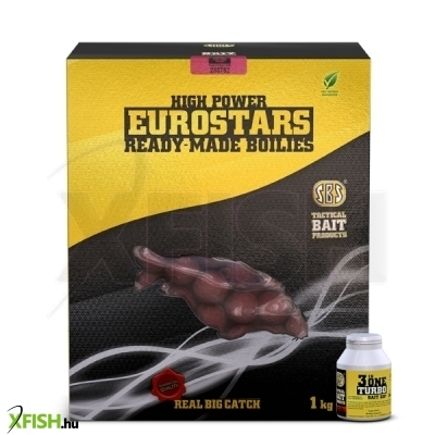 Sbs Eurostar Ready-Made Bojli + Bonus 50 Ml 3 In One Turbo Bait Dip Cranberry & Black Caviar 1 Kg 20 Mm