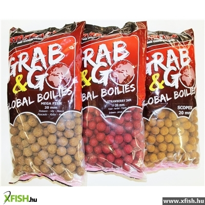 Starbaits Grab & Go Global Bojli 20Mm 10Kg Strawberry Jam