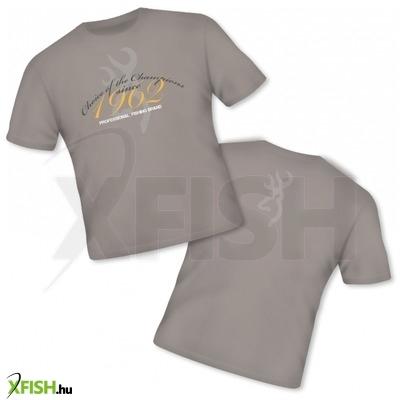 Browning T-Shirt Classic 100% Cotton Szürke Horgász Póló Xxl-Es 96d57b02d4
