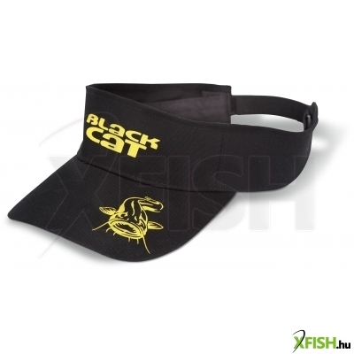 Black Cat Visor Sapka 100% Cotton