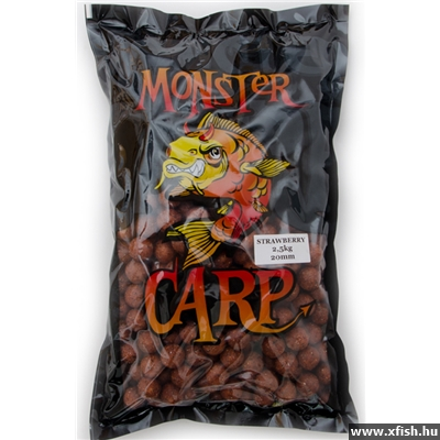 Zadravec Monster Carp etetőbojli 2,5 kg 20mm Strawberry (eper)