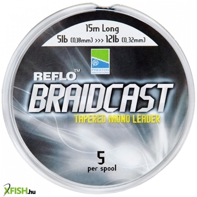 Preston Reflo Braidcast feeder zsinór - Tapered Mono Leader