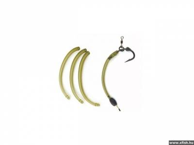 Withy/Curve Shank Adaptor X 10 Camo Green/Brown - Hook Sizes 6+