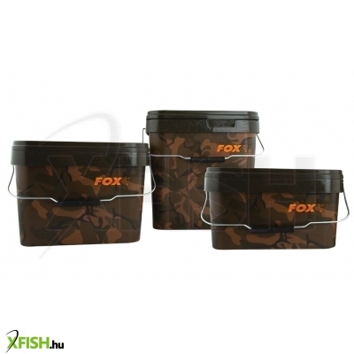 Fox Camo Square Bucket 10L - Fox Terepszínű Vödör