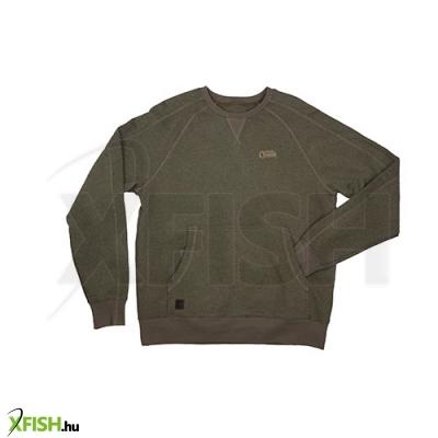 -1 511 Ft FOX pulóver CHUNK™ Crew Pouch Sweatshirt - XL Green Marl 1e9ce1aeed