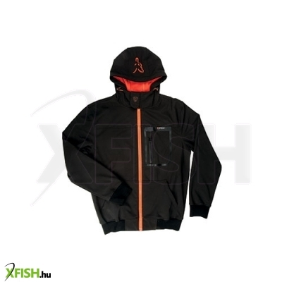 Fox Softshell Kapucnis Felső Hoody Black/Orange - Medium