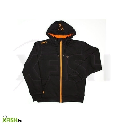 Fox Heavy Lined Hoody Black/Orange - Kapucnis Pulóver S