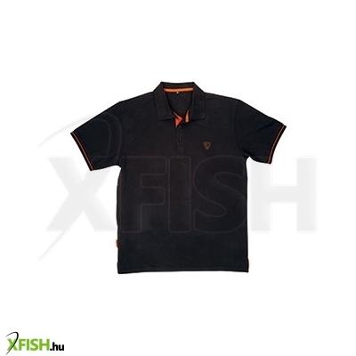 -845 Ft Fox Polo Shirt Black Orange - S 827ed4cc05