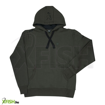 Fox Kapucnis Pulcsi L - Green & Black Hoody