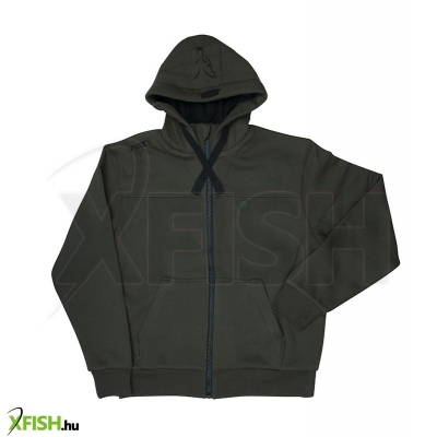 Fox Kapucnis Pulóver M - Green & Black Heavy Lined Hoody