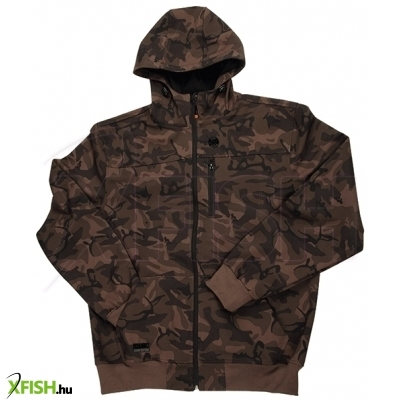 Fox Zippes Felső Chunk Camo Soft Shell Hoody Medium