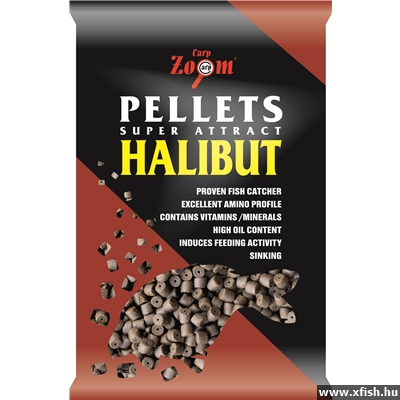 Carp Zoom Halibut Pellet 20 Mm Pre-Drilled 800 G Fúrt