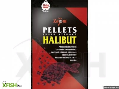 Carp Zoom Halibut Pellet 20 Mm Pre-Drilled 10 Kg Fúrt
