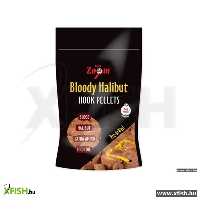 Carp Zoom Bloody Halibut Horog Pellet 8 Mm Pre-Drilled 150G