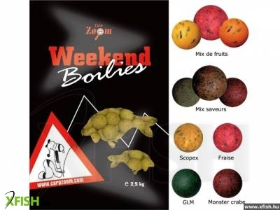 Carp Zoom Weekend Bojli meat mix 16+20 mm 2500 g halas-húsos bojlik vegyesen