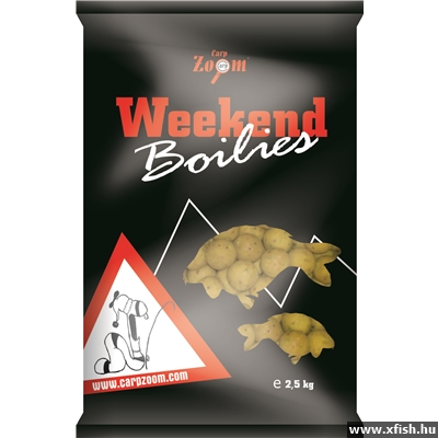 Carp Zoom Weekend Bojli 16&20mm meat mix 10kg halas-húsos bojlik vegyesen
