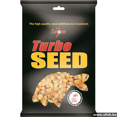Carp Zoom Turbo Seed 5X Mix Corn+Wheat+Hemp+Tigernut+Mammoth Maize 500 G