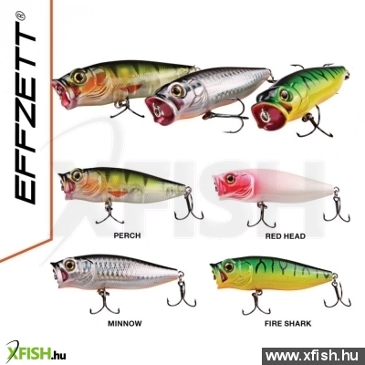 Effzett Baby Popper - 55Mm - Fire Shark