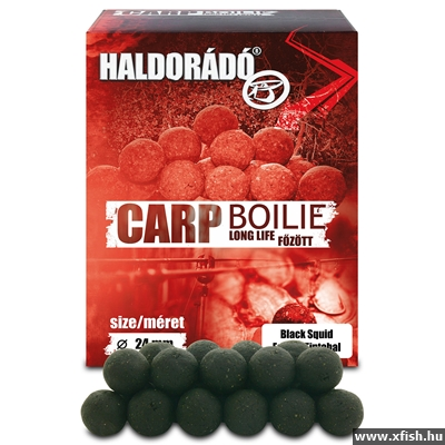 Haldorádó Carp Bojli Long Life - Black Squid 800 G / 24 Mm