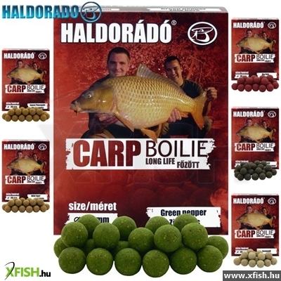 Haldorádó Carp Bojli Long Life - Green Pepper 800 G / 24 Mm