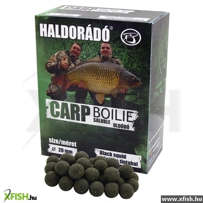Haldorádó Carp Bojli Soluble Oldódó - Black Squid 800 G / 20 Mm